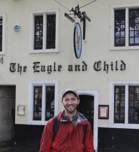 The Eagle and Child in Oxford, England. Famous for serving Tolkien, Lewis and the Inklings.
